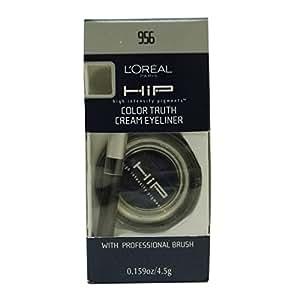 L'Oreal Paris HiP Studio Secrets Professional Color Truth Cream Eyeliner, Midnight Blue, 0.16 Ounce