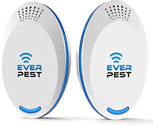 Ultrasonic Pest Repellent Control 2018 (2-Pack), Plug in Home, Flea, Rats, Roaches, Cockroaches, Fruit Fly, Rodent, Insect, ndoor and Outdoor Repeller, Get Rid of Mosquito, Ant