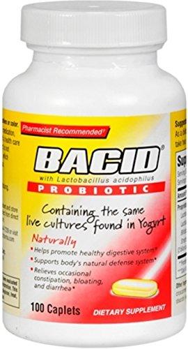 Bacid Probiotic Caplets 100 Caplets (Pack of 4) by Bacid
