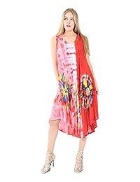 Village Venture-Vestidos De Mujer con Estampado Floral Ideal para Playa 1407