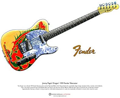 George Morgan Illustration Art Cartel de 1959 Fender Telecaster ...