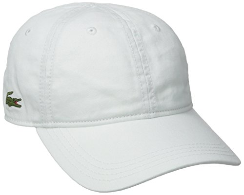 Lacoste Men's Classic Gabardine Cap, White, One Size