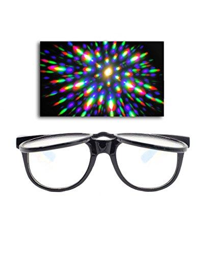 Emazing Lights Flip Up Diffraction Prism Fireworks Rave Glasses - Diffraction Glasses Rave
