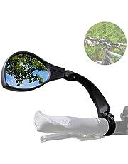 Smart-Planet Fietsspiegel links - achteruitkijkspiegel voor fiets en e-bike stuur - universeel 360° verstelbaar - spiegel voor fietsstuur met Ø 21-26mm