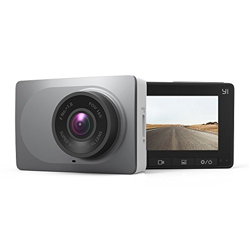 YI 2.7' Screen Full HD 1080P60 165 Wide Angle Dashboard Camera, Car DVR Vehicle Dash Cam with G-Sensor, WDR, Loop Recording, Grey