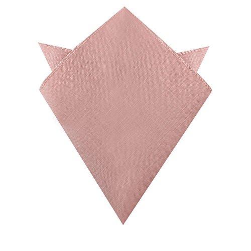 Blush Pink Pocket Square Cotton Linen Handkerchief | Wedding Hanky for Groomsmen (Pocket Square, Blush Pink)