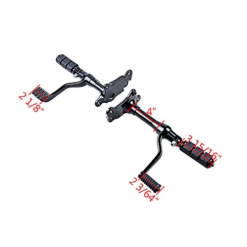Full Set Forward Controls Foot Peg Levers Linkage for Harley Sportster XL 1200 883 (1991-2003 (Selected), Black) by AMOPA (Image #4)'