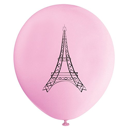 Paris Balloons, 12inch (16pcs) Eiffel Tower Girl Baby Shower or Birthday Party Decorations Supplies -