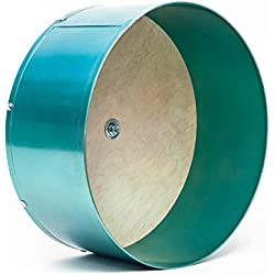 """Quality Cage Crafters Colored 15"""" Chin Spin Chinchilla Wheel - Handmade in USA - Quiet (Teal)"""