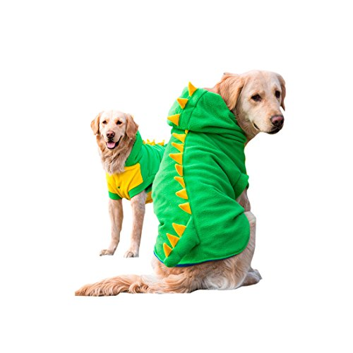 Mylovepets Dragon Halloween Costume Warm and Comfortable Cool Outdoor Dog Pet Green Clothes Shirt 3XL