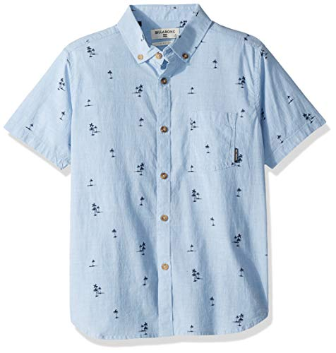 Billabong Boys' Sundays Mini Short Sleeve Shirt Light Blue Small