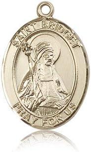 14ktゴールド聖Bridget of Sweden medal