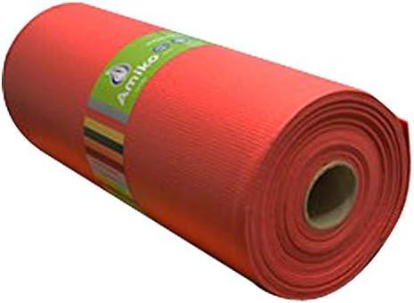 Amiko Alfombra Antideslizante Multiusos Tupida Roja 0.61x12M