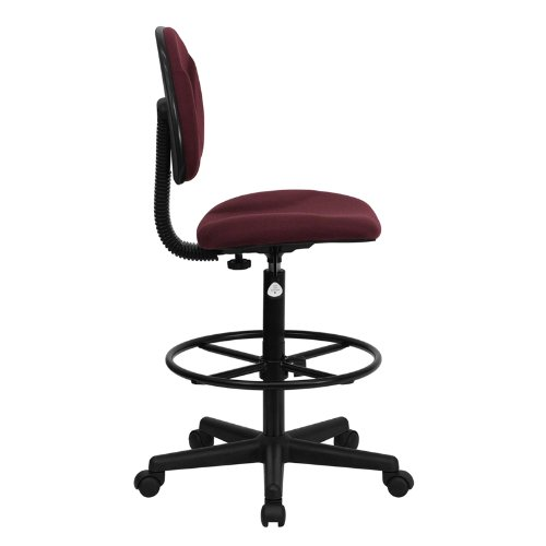 Flash Furniture Burgundy Fabric Drafting Chair (Cylinders: 22.5''-27''H or 26''-30.5''H)