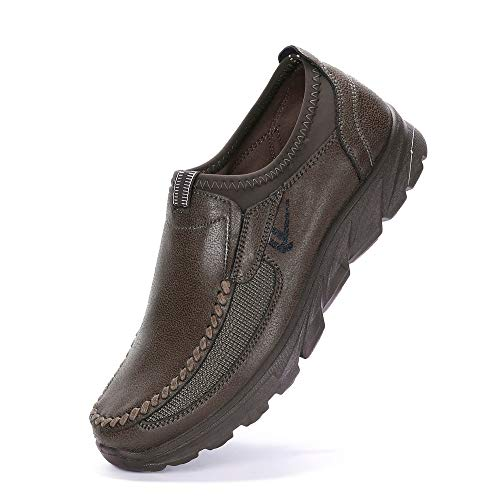 Men's Boat Shoes,WEUIE Synthetic Leather Men Casual Comfort Slip-On Loafer Breathable Driving Shoes Fashion Slippers