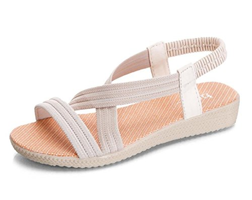 Image of Kuro&Ardor Sandals for Woman Open Toe Flat Ankle Strap Beach Summer Casual Cool Low Heel with Heels
