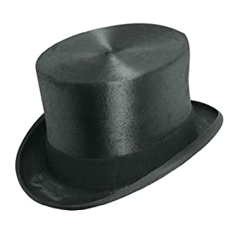 Christy's of London Men's Fur Felt Top Hat,Black,7.5