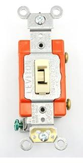 Tamper Proof Light Switch Key: Leviton 20-Amp Toggle Switch 1221-2IL, Ivory,Lighting