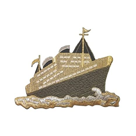ID 5067 oro crucero barco grande parche maletero barco ...