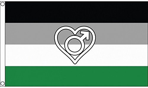 1000 Flags Limited Androphilia Pride Flag 5'x3'  - Woven Pol