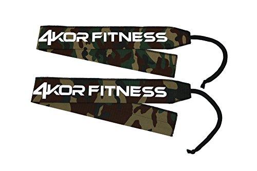 Wrist Wraps by 4KOR Fitness (Army Camo/Black Stitch)