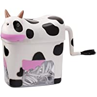 Small Cow Paper Shredder Manual Hand Crank Stright Cut