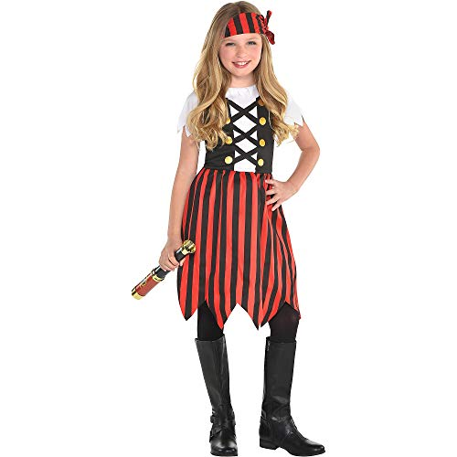 Suit Yourself Shipmate Cutie Pirate Halloween Costume for Girls, Medium, Includes Headscarf]()