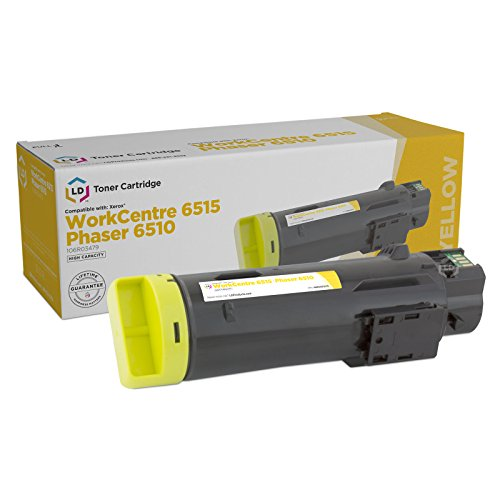 LD Compatible Toner Cartridge Replacement for Xerox Phaser 6510 & WorkCentre 6515 High Yield (Yellow)