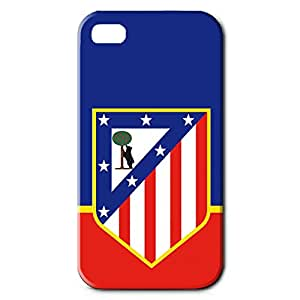 Fashion Design FC Atletico De Madrid FC Team Phone Case Cover For Iphone 4 3D Plastic Phone Case