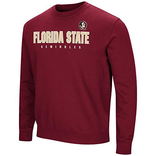 Colosseum FSU Florida State University Sweatshirt Playbook Crew Neck Fleece (X-Large) ()