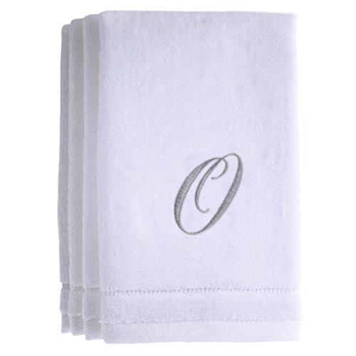 Monogrammed Towels Fingertip, Personalized Gift, 11 x 18 - Monogram O Hand Towel