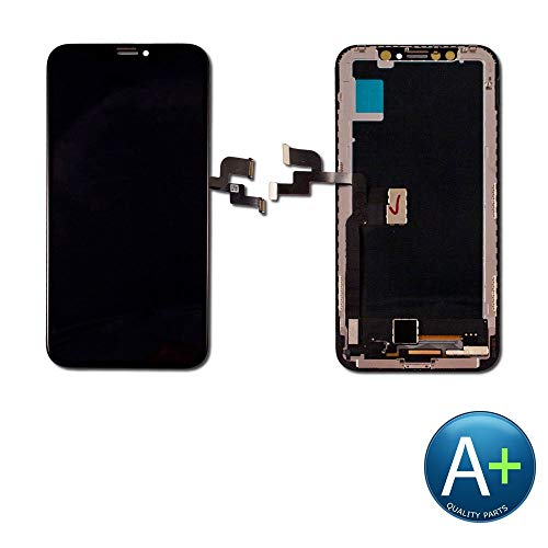 (PassionTR for iPhone X 10 5.8 Inch Soft Flexible AMOLED OLED Screen Replacement (Not LCD) Digitizer Full Assembly Display Frame Set (for IP X Black))