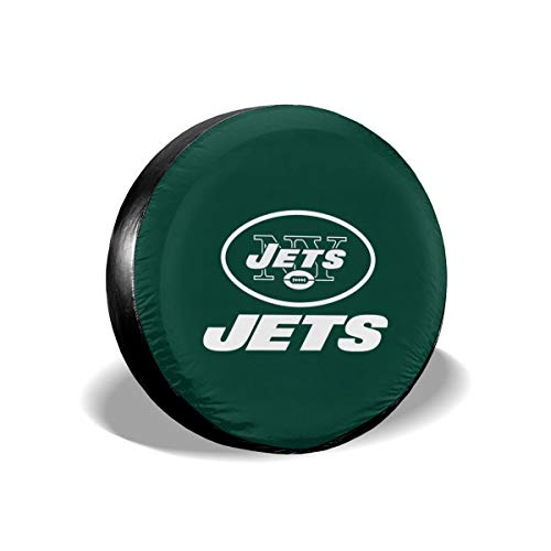 (Sorcerer Custom Colorful Waterproof Tire Cover New York Jets American Football Team Unisex Protection Spare Covers Storage Wheel Cover for Car Off Road)