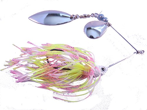 Lead Cotton Candy (SeaCandy Tackle Tandem Spinnerbait, Cotton Candy Shadow, 1/2 oz.)