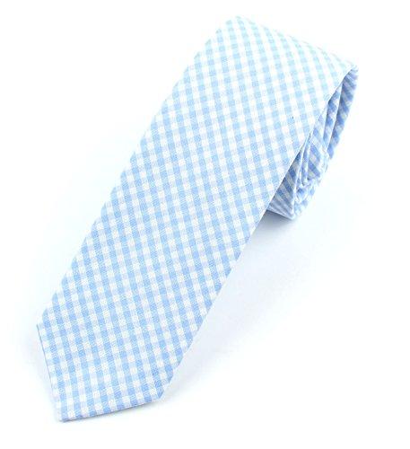 Buy light blue and white checkered dress - 1