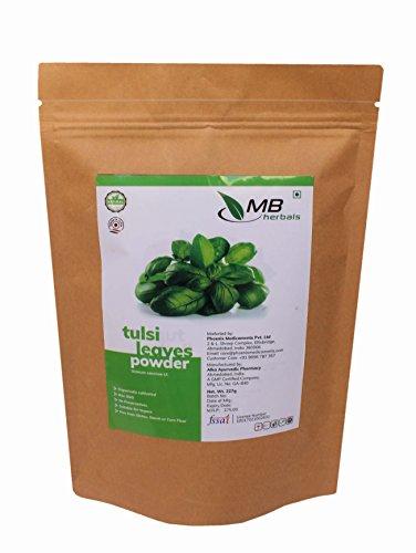 MB Herbals Tulsi Leaves Powder 227g | Half Pound | Ocimum Sanctum Tulasi | Premium Quality Diet Supplement | Tulsi Powder for A Refreshing Cup of Tulsi Tea That Boosts ()