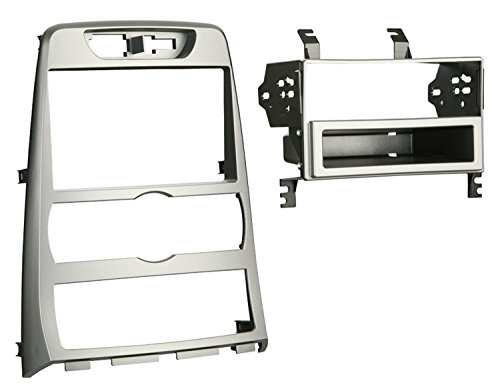 Metra 99-7336S Single DIN Installation Dash Kit for 2010 Hyundai Genesis Coupe, Painted Silver to Match Factory (Coupe Dash)