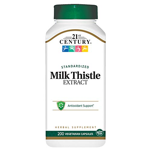 21st Century Milk Thistle Extract Veg Capsules, 200 Count