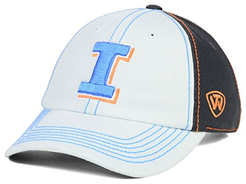 Illinois Fighting Illini Top of the World NCAA Women's Palette Adjustable Charcoal/White Hat (Illinois Fighting Illini Slide)