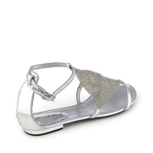 Breckelles Womens Dior-01 Sandal Silver 4nxzpxnK