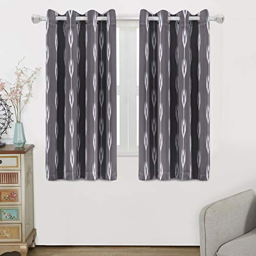 WONTEX Arrow Printed Thermal Insulated Blackout Curtains, Grommet Room Darkening Curtains for Living Room and Bedroom, Set of 2 Curtain Panels, 52 x 63 inch, Khaki