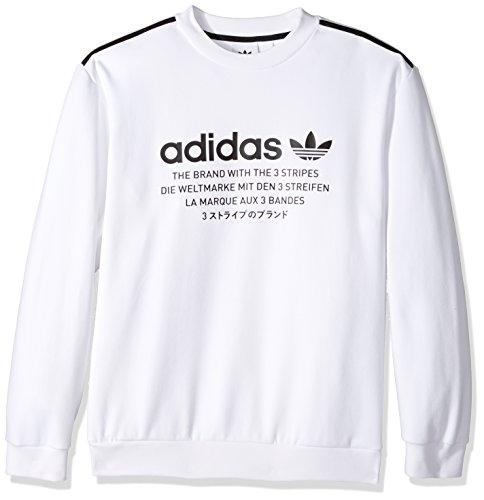 adidas Originals Men's Nmd Crew Sweatshirt, White/Black, Medium by adidas Originals