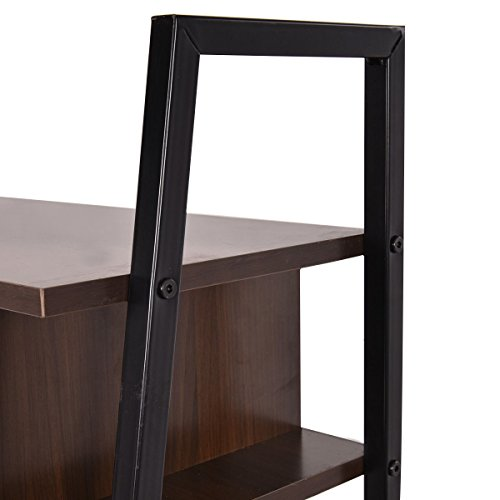 Tangkula Ladder Shelf With Desk Leaning Bookcases Home Office Furniture Buy Online In Ksa