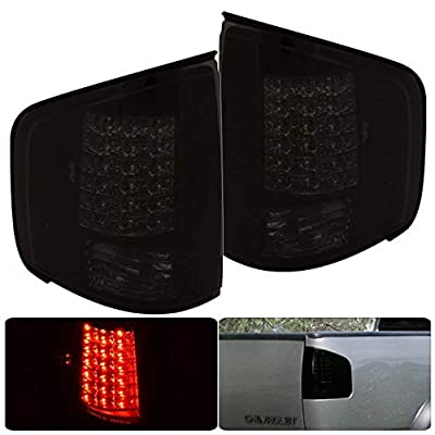 Fit 1994-2004 Chevy S10 Truck / 1994-2004 GMC Sonoma / 1996-2000 Isuza Hombre Led Tail Lights Smoked Lens/Black Housing