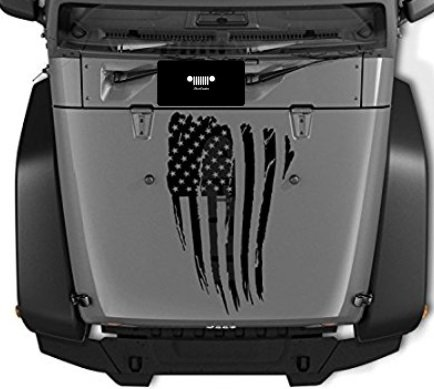 Black Jeep Wrangler 2007-2018 Hood Vent Cover Prevents Dust From Entering The Cab Through The Ventilation System When Off Roading.