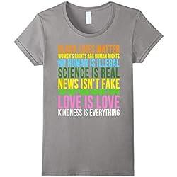 Womens Kindness Is Everything Black Lives Love Is Love Resist Shirt Medium Slate