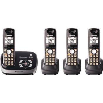 Panasonic KX-TG6524 Dect 6.0 Plus Cordless Phone Answering System w/ 4 Handsets