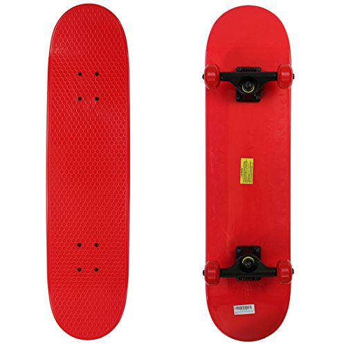 RIMABLE Kids Plastic Complete Skateboard Red by RIMABLE