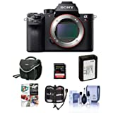 Sony a7RII Alpha Full Frame Mirrorless Digital Camera Body - Bundle with Camera Bag, 32GB Class 10 U3 SDHC Card, Spare Battery, Cleaning Kit, Memory Wallet, Pro Software Package