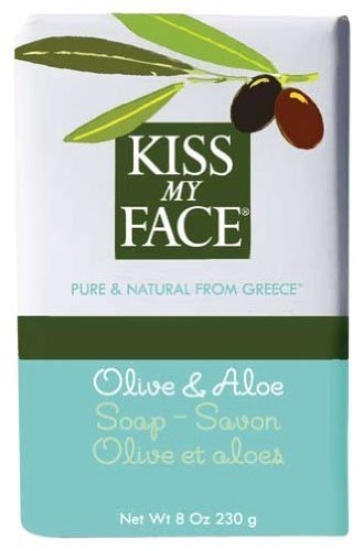 Aloe 8 Ounce Bar - Kiss My Face Moisturizing Bar Soap for All Skin Types - Olive & Aloe - 8 oz